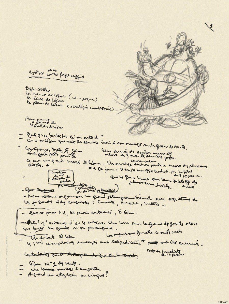 'Astérix y el Papiro del César': las imágenes exclusivas de cómo se gestó el 36º cómic del héroe