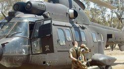Accidente de un helicóptero del Ejército a 280 millas de