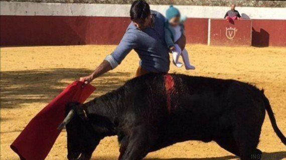 La polémica foto de Francisco Rivera toreando con su hija de cinco