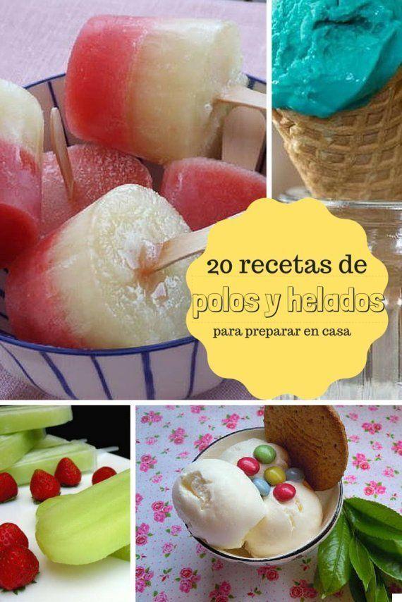 Haz sitio en el congelador: 20 recetas de helados y polos para hacer en