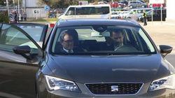 El rey se reúne con Mas en Cataluña durante su visita a la planta de