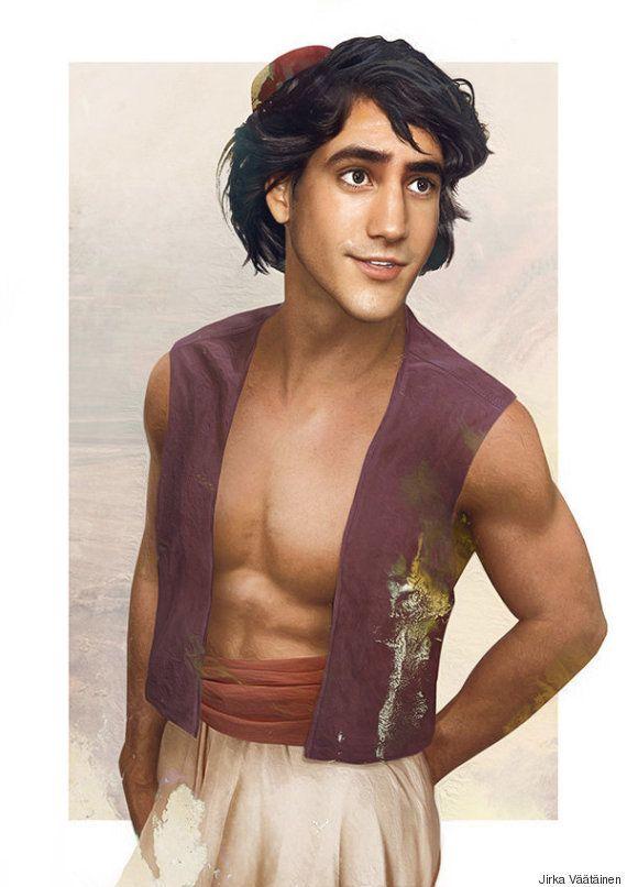 Un artista pinta retratos reales de las princesas y príncipes de