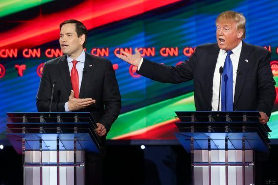 Rubio y Cruz suman fuerzas y pasan al ataque contra Trump en el último debate antes del