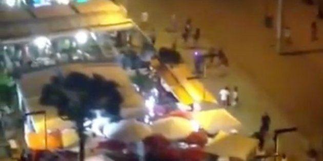 Un 'flashmob' siembra el pánico en Platja d'Aro (Girona) por la confusión con un