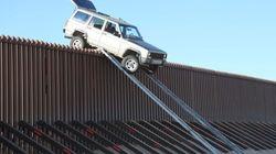 Cruzar (literalmente) la frontera de México con Estados Unidos en coche