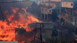 El incendio de Valparaíso deja ya 12