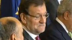 La cara que pone Rajoy cuando otro se atribuye el cargo de presidente del