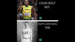 Así han mejorado los récords de los Juegos en 100