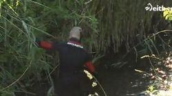 Hallados una cabeza humana, una sierra, un mazo y un cable en unos ramajes de alrededor del río