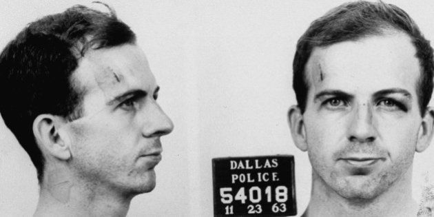 Police file photograph (mug shot) of alleged assassin of John F. Kennedy, Lee Harvey Oswald. (Photo by...