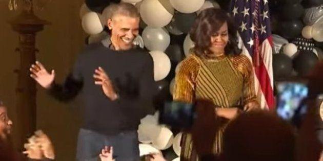 Los Obama celebran Halloween bailando 'Thriller' en la Casa