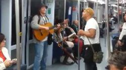 Estos improvisadores del metro de Madrid triunfan en YouTube