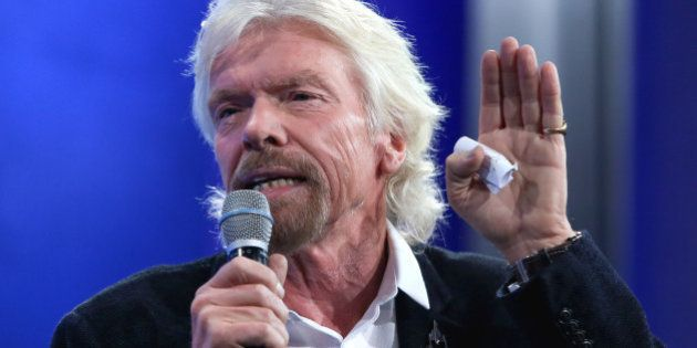 CNBC EVENTS -- Pictured: Billionaire entrepreneur Sir Richard Branson, founder of Virgin Group, speaks...