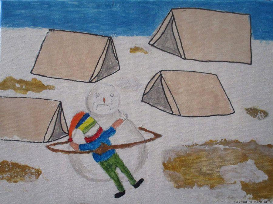 El arte como terapia: las obras de niños refugiados sirios en Madrid