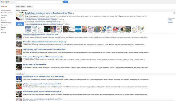 Google News cierra en España el 16 de diciembre por la nueva Ley de Propiedad