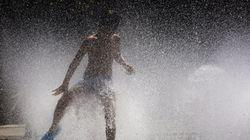 Lluvias y descenso de las