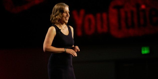 ANAHEIM, CA - JULY 23: Susan Wojcicki, CEO of YouTube delivers her keynote at #VidCon at Anaheim Convention...