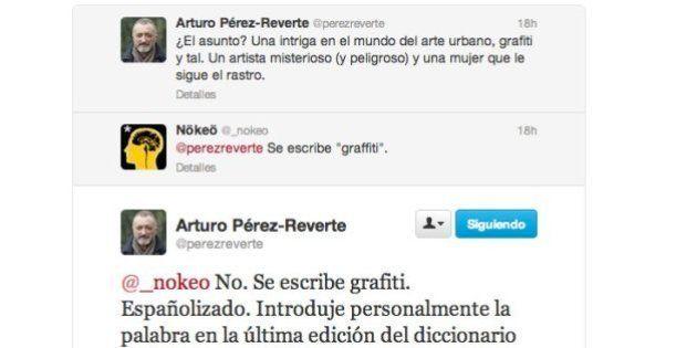 Arturo Pérez Reverte enseña en Twitter lo que pasa cuando corriges la ortografía de un