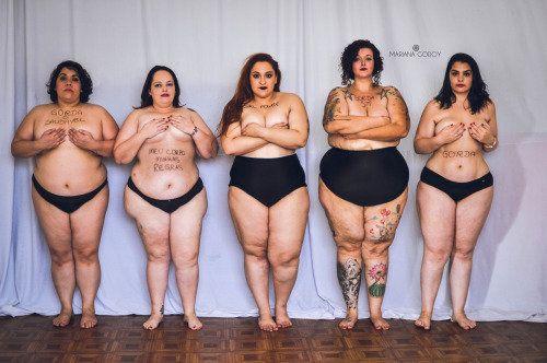 Cinco mujeres 'gordas' posan en ropa interior para eliminar el estigma de la