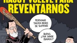 La portada de 'El Jueves' que relaciona a Rajoy con 'The Walking