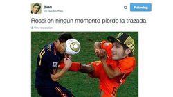 Los tuits y memes sobre la patada de Rossi a