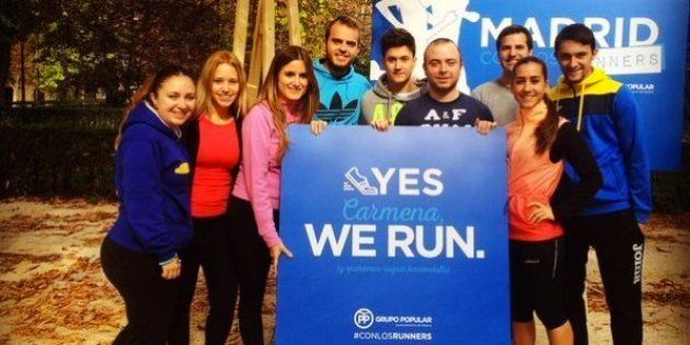 Carromero reaparece para apoyar a los 'runners'... y cachondeo en
