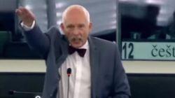 Sanción para dos eurodiputados por hacer el saludo