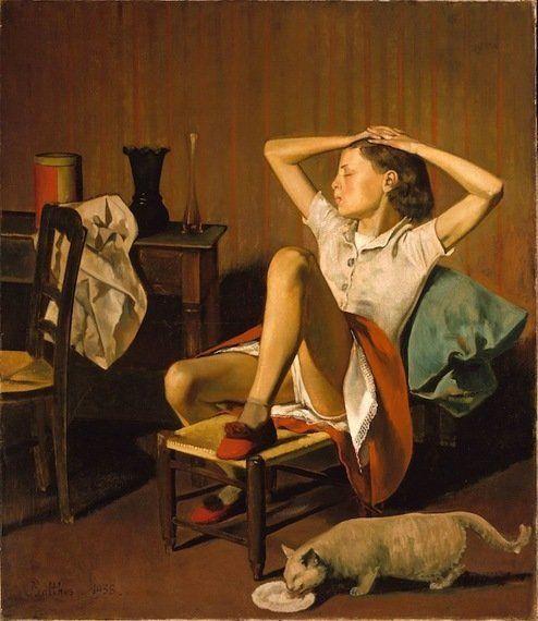 Grandes pinturas de mujeres descansando... con