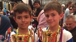 Dos niños españoles, campeones del mundo de Cálculo con Ábaco en