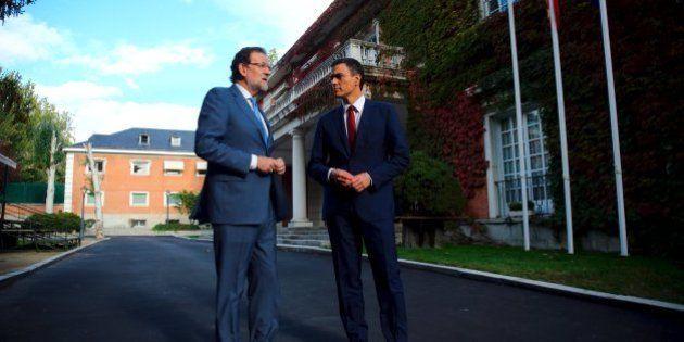 Sánchez y Rivera piden a Rajoy que cuente también con Podemos en el tema de