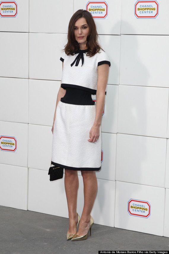 El vestido-ilusión óptica de Chanel de Keira Knightley
