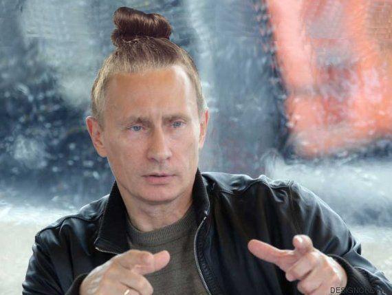 Así serían los líderes mundiales peinados con moño hípster