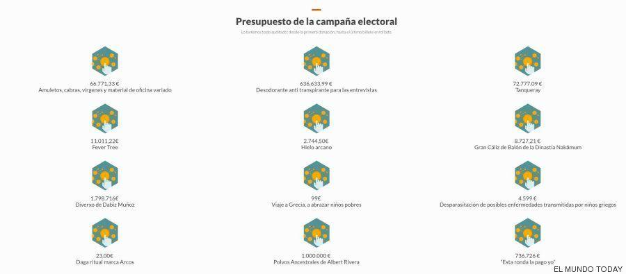 Las páginas web de los partidos que algunos partidos no querrán que