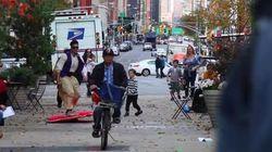 Aladdín recorre Nueva York sobre su alfombra voladora