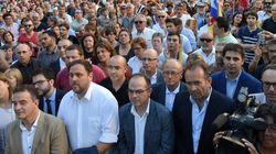 Mil independentistas exigen en Barcelona la dimisión de Fernández