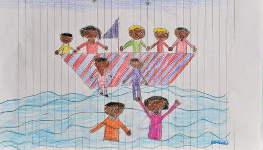 Los niños de Lampedusa dibujan la tragedia