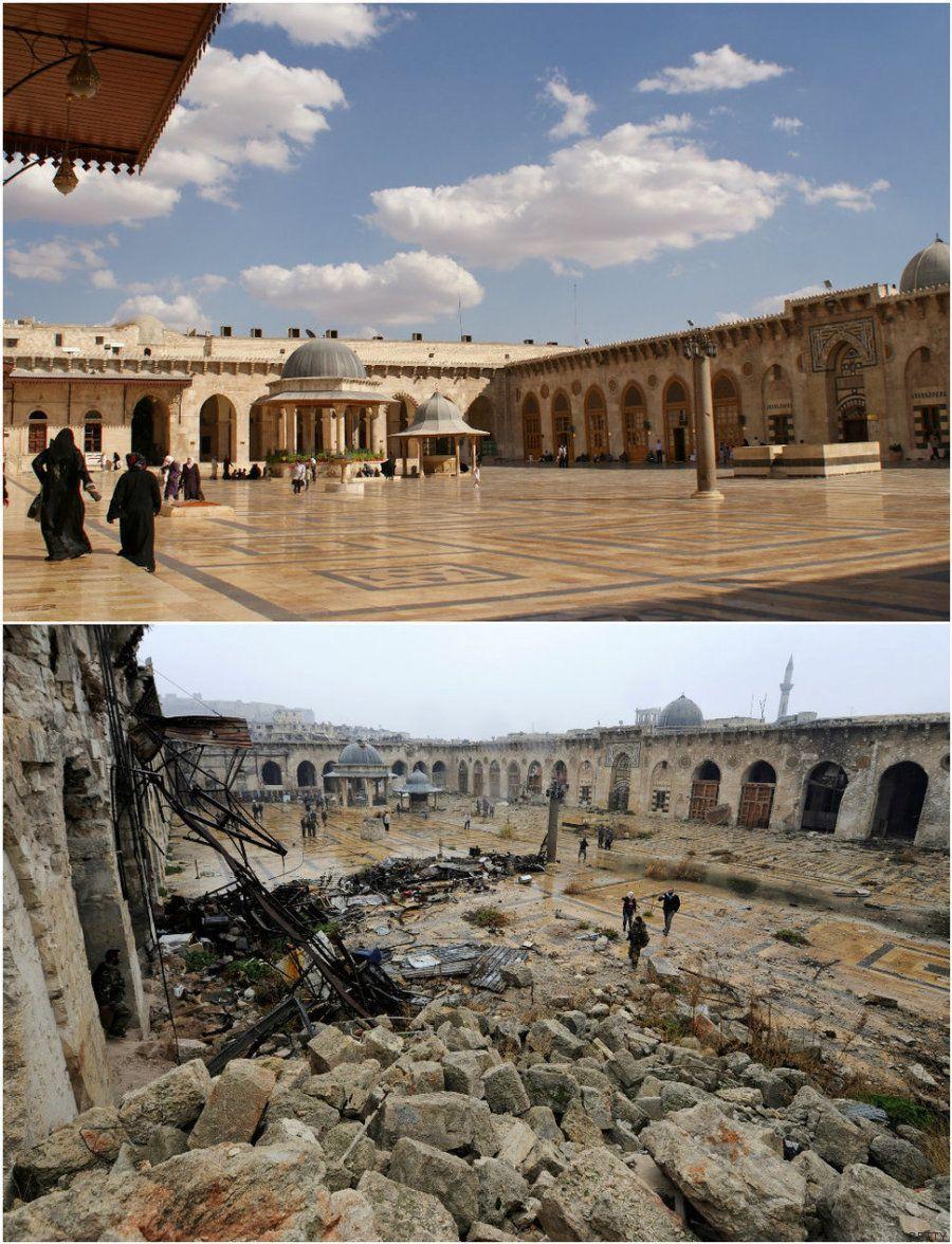 Alepo antes y después de la guerra civil siria, en siete brutales