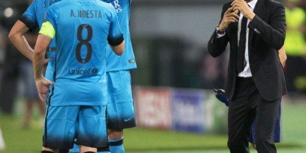 El Barça saca un doloroso empate de Roma y el Valencia cae en
