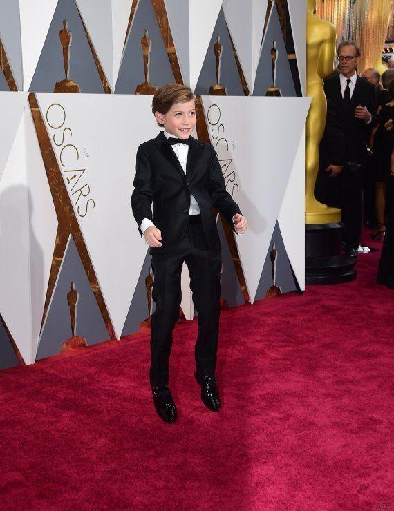 El momento más tierno de los Oscar 2016: Jacob Tremblay y su ilusión con R2D2, C3PO y