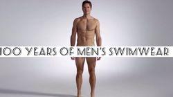 ¿Cómo han ido los hombres a la playa en los últimos 100