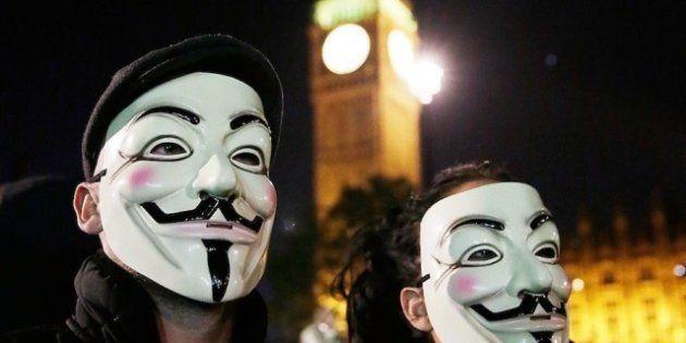 Protestas Anonymous en Londres por el 5 de Noviembre: la manifestación de las máscaras de Guy Fawkes