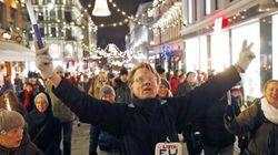 Protestas en Oslo contra la entrega del Nobel de la Paz a la