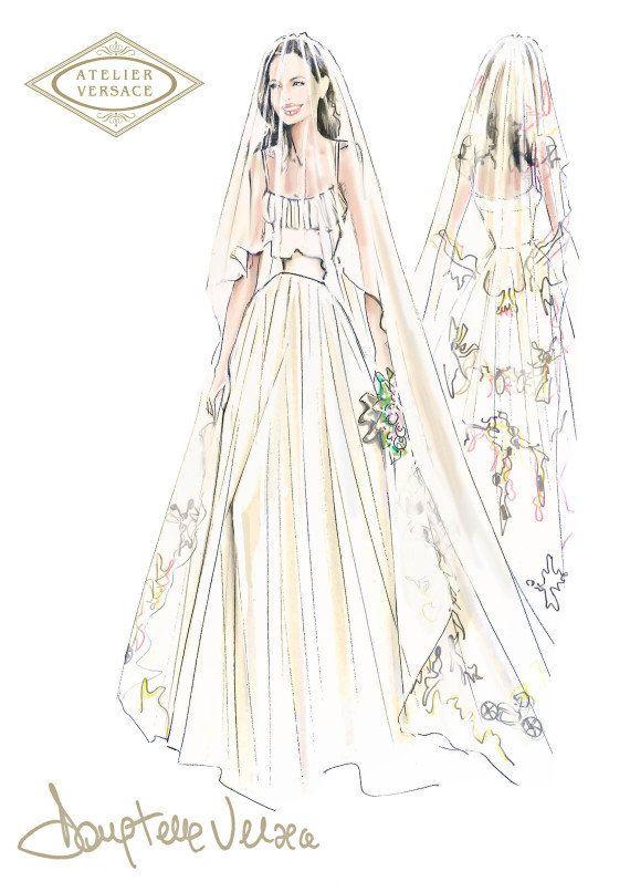 Vestido de novia de Angelina: las fotos de su boda con Brad