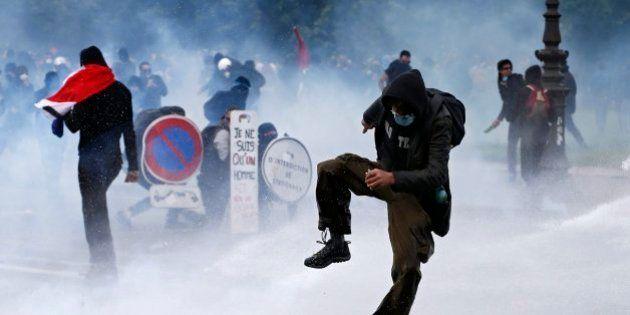 Detenidas 95 personas en la manifestación contra la reforma laboral en