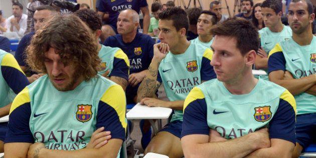 El mensaje de Puyol sobre Messi en pleno partido del Barça que arrasa en
