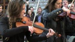 La plaza que se convirtió en orquesta