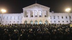 Los policías portugueses, en la calle contra los