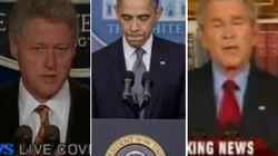 Tres presidentes ante tres