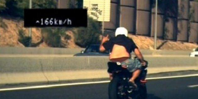 Detenido un motorista en Madrid tras hacer un gesto obsceno a un radar cuando circulaba a 166