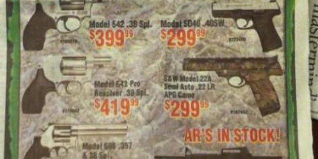 La desafortunada publicidad en 'The Herald' junto a la noticia de la masacre de Newtown